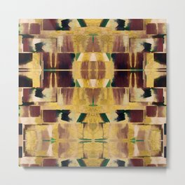 Avalon Abstract Brown Geometric Shapes Metal Print