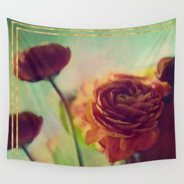 Painted Ranunculus Wall Tapestry