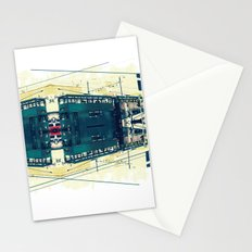 Tramway collage cityscape in Hong Kong Stationery Cards
