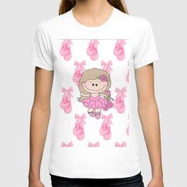 Little Ballerina in Pink T-shirt