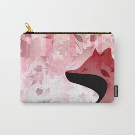 Fox In Falling Leaves Unique Design Carry-All Pouch