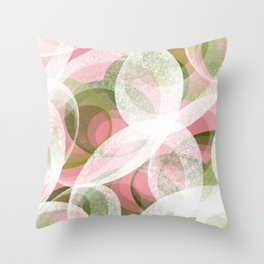 Peacock pink Throw Pillow