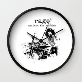 Rage Against the Machine Wall Clock