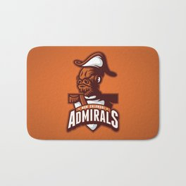 Mon Calamari Admirals on Orange Bath Mat