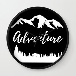Adventure Mountains Nature Gifts Wall Clock