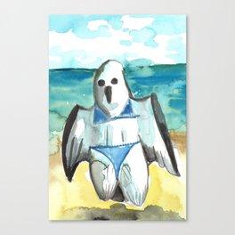 bikini ghost Canvas Print