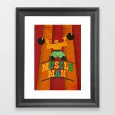 Munscle Man Framed Art Print