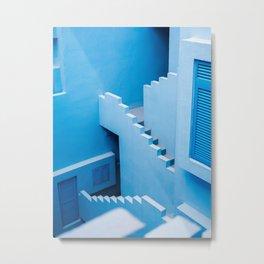 Blue maze of Muralla Roja Spain   Abstract photograph architecture art Metal Print