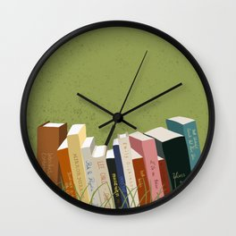 Books in Nature Wall Clock