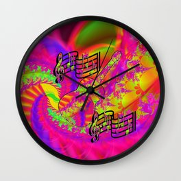 Weeping Guitar Wall Clock