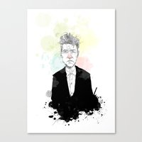 david lynch Canvas Prints featuring David Lynch by suPmön