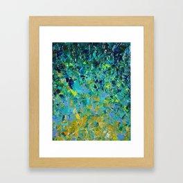 BEAUTY BENEATH THE SURFACE - Stunning Ocean River Water Nature Green Blue Teal Yellow Aqua Abstract Framed Art Print