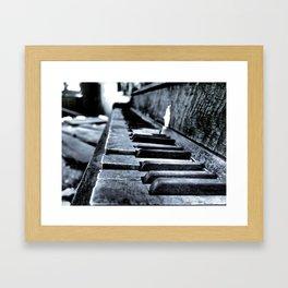 Forgotten Piano Framed Art Print