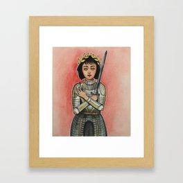 Joan of Arc Framed Art Print