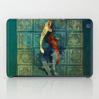 koi iPad Cases featuring Koi by Elsa Herrera-Quinonez