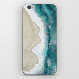 Waves, Beach, Ocean, Blue, Sandy iPhone Skin