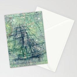 Vintage Clipper Ship Stationery Cards