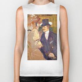 "Henri de Toulouse-Lautrec ""The Englishman (William Tom Warrener, 1861–1934)"" Biker Tank"