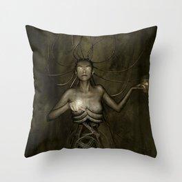 Electric Medusa Throw Pillow