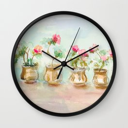 Terracotta Pots Wall Clock