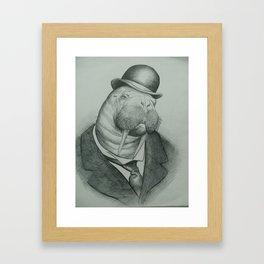 Gentleman Walrus Framed Art Print