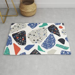 Abstract stones pattern Rug