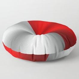 Metallic Red & Silver Geometric Design Floor Pillow