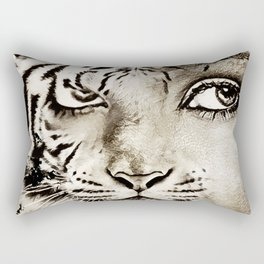 Tiger or woman Rectangular Pillow