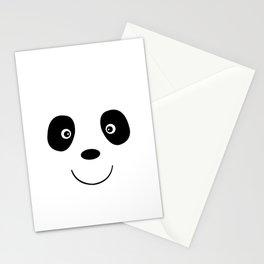 Panda bear face Stationery Cards