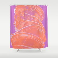 icecream Shower Curtains featuring Icecream, please! by Raluca Ag