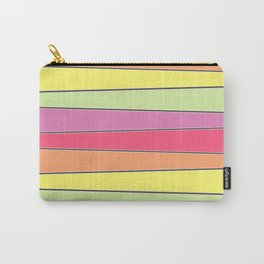 Summer Color Palette Crooked Stripes Carry-All Pouch