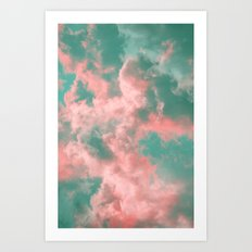Watermelon Sunset Art Print