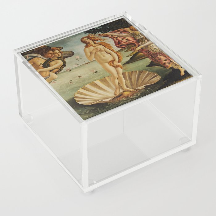The Birth of Venus by Sandro Botticelli Acrylic Box