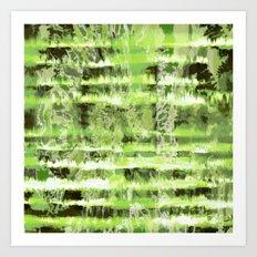 Greenery Tie-Dye Shibori Art Print