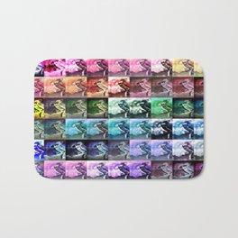 The Dancer Colorful Rainbow Collage Bath Mat