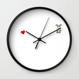 A Life Without A Schnauzer Is Like I Have No Idea Super Cute And Funny Dog Gift Idea Wall Clock