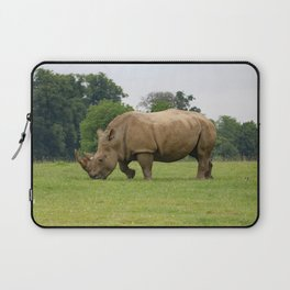 12,000pixel - 500dpi, High Quality Photograph - Rhino in the meadow II Laptop Sleeve