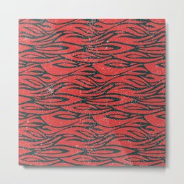 Distressed Tiger Pattern Metal Print