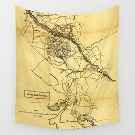 Map of the Civil War Seven Days' Battles (June 25 - July 1, 1862) Wall Tapestry