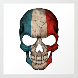 Exclusive France skull design Art Print