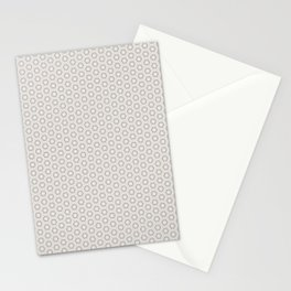 Hexagon Light Gray Pattern Stationery Cards