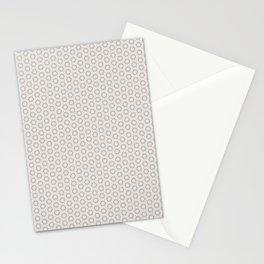 Hexagon Light Gray Pattern Stationery Cards