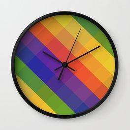 CRISS CROSS RAINBOW... Wall Clock