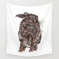 hare Wall Tapestries featuring Hare by Meredith Mackworth-Praed
