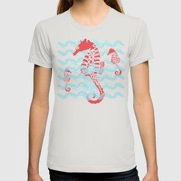 Beachy Seahorses Dancing in the Waves T-shirt