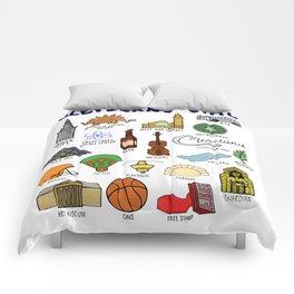 Cleveland Ohio Icons Comforters