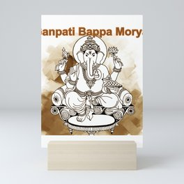 All Glory Ganpati Bappa Morya Lord Ganesha Mini Art Print