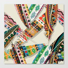 Boho Feather Pattern Canvas Print