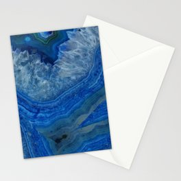blue agate crystals Stationery Cards