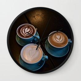 Cappuccino, Cocoa and Chai Love Wall Clock